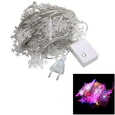 1PC USB Power 10M 60LEDS Led String Lights 8MODES Snowflake Light Post Natal Ano Novo Festa Casamento 220v