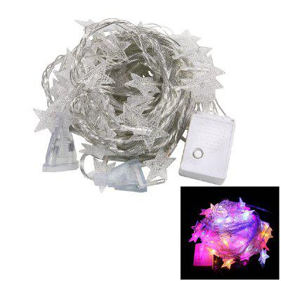 1PC 10M 60LEDS Led String Lights 8MODES Five Pointed Star Light Natal Ano Novo Festa Casamento 220V