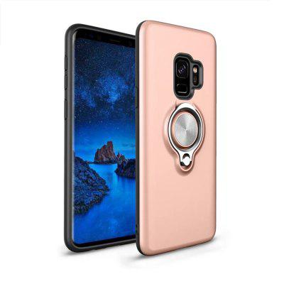 Cover Case for Samsung Galaxy S9 Plus Shock Absorption Dual Design Phone Ring Holder Anti-Scratch Protective