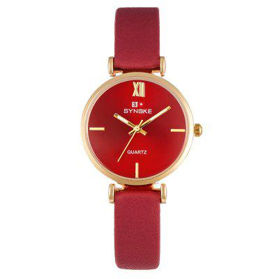 SYNOKE 3621 Simple Fashion Ladies Quartz WatchWomens Watches<br>SYNOKE 3621 Simple Fashion Ladies Quartz Watch<br><br>Band material: PU<br>Band size: 21.2 x 1.206cm<br>Brand: Synoke<br>Case material: Alloy<br>Clasp type: Pin buckle<br>Dial size: 3.221 x 3.221 X 0.898cm<br>Display type: Analog<br>Movement type: Quartz watch<br>Package Contents: 1 x Watch<br>Package size (L x W x H): 12.50 x 8.00 x 9.00 cm / 4.92 x 3.15 x 3.54 inches<br>Package weight: 0.0274 kg<br>Product size (L x W x H): 21.20 x 3.22 x 0.90 cm / 8.35 x 1.27 x 0.35 inches<br>Product weight: 0.0218 kg<br>Shape of the dial: Round<br>Watch mirror: Acrylic<br>Watch style: Fashion, Casual<br>Watches categories: Women,Female table<br>Water resistance: Life water resistant