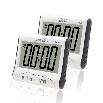 2pcs Magnetic LCD Digital Kitchen Timer Count Down Egg Cooking Alarm Clock