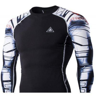 Digital Printing Fitness Quick-Drying Long-sleeved T-shirtSports Clothing<br>Digital Printing Fitness Quick-Drying Long-sleeved T-shirt<br><br>Material: Acetate, Microfiber<br>Package Contents: 1?T-shirt<br>Pattern Type: Others<br>Weight: 0.2500kg