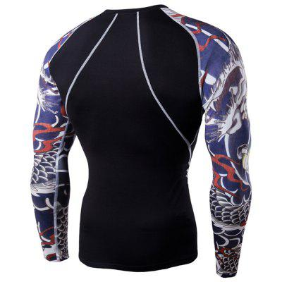 Mens Digital Printing Fitness Long-sleeved T-shirtSports Clothing<br>Mens Digital Printing Fitness Long-sleeved T-shirt<br><br>Material: Acetate, Microfiber<br>Package Contents: 1?T-shirt<br>Pattern Type: Others<br>Weight: 0.2500kg