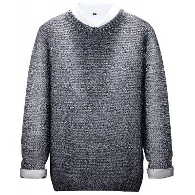Long Sleeved Round Collar Warm Leisure Sweater