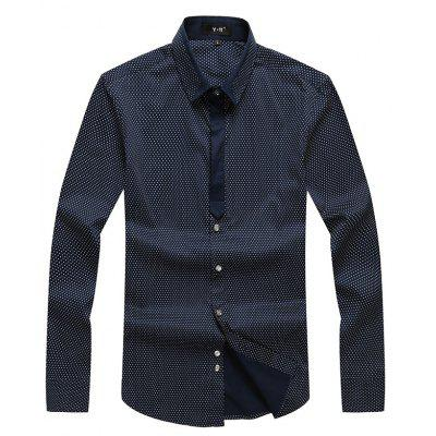 Autumn and Winter Men's Spotted Shirt Fashion and Leisure Bottoming Blouses