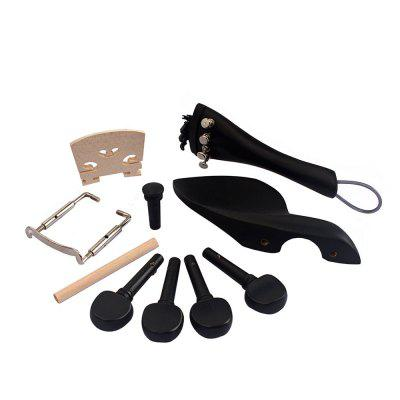 Ebony Wood 4/4 Violin Accessories Bridge Chinrest Endpin Tuners Tail Guitar Musical InstrumentsViolin Parts<br>Ebony Wood 4/4 Violin Accessories Bridge Chinrest Endpin Tuners Tail Guitar Musical Instruments<br><br>Application: Violin Use<br>Materials: Nylon, Wood, Metal<br>Package Contents: 4 x Pegs , 4 x Fine Tuner , 1 x Tail Gut , 1 x Chinrest Clamp , 1 x Bridge , 1 x Soundpost , 1 x Tailpiece , 1 x Chinrest , 1 x Endpin<br>Package size: 15.00 x 10.00 x 5.00 cm / 5.91 x 3.94 x 1.97 inches<br>Package weight: 0.0980 kg