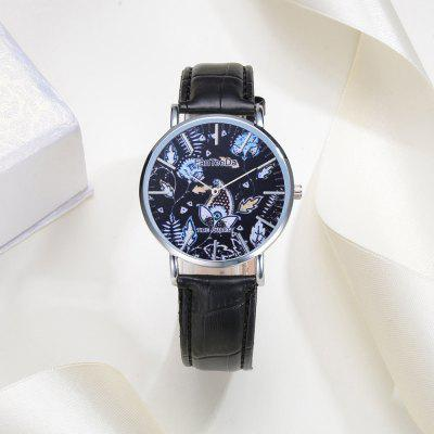 Fanteeda FD100 Men Floral Dial Leather Band Wrist WatchMens Watches<br>Fanteeda FD100 Men Floral Dial Leather Band Wrist Watch<br><br>Band material: PU<br>Band size: 25.5 x 2 cm<br>Case material: Alloy<br>Clasp type: Pin buckle<br>Dial size: 4 x 4 x 0.7 cm<br>Display type: Analog<br>Movement type: Quartz watch<br>Package Contents: 1 x Watch<br>Package size (L x W x H): 27.00 x 5.00 x 1.00 cm / 10.63 x 1.97 x 0.39 inches<br>Package weight: 0.0280 kg<br>Product size (L x W x H): 25.50 x 4.00 x 0.70 cm / 10.04 x 1.57 x 0.28 inches<br>Product weight: 0.0250 kg<br>Shape of the dial: Round<br>Watch mirror: Mineral glass<br>Watch style: Business, Outdoor Sports, Fashion, Casual<br>Watches categories: Men<br>Water resistance: Life water resistant