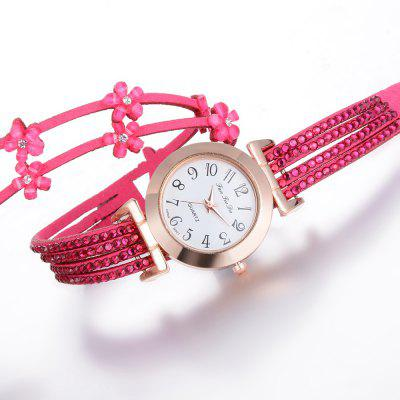 Fanteeda FD094 Women Arabic Numbers Rhinestones Wrist Watch with FlowersWomens Watches<br>Fanteeda FD094 Women Arabic Numbers Rhinestones Wrist Watch with Flowers<br><br>Band material: PU<br>Band size: 39.5 x 1.3 CM<br>Case material: Alloy<br>Clasp type: Double buckle<br>Dial size: 3 x 3 x 0.8 CM<br>Display type: Analog<br>Movement type: Quartz watch<br>Package Contents: 1 x Watch<br>Package size (L x W x H): 26.00 x 5.00 x 1.00 cm / 10.24 x 1.97 x 0.39 inches<br>Package weight: 0.0260 kg<br>Product size (L x W x H): 39.50 x 3.00 x 0.80 cm / 15.55 x 1.18 x 0.31 inches<br>Product weight: 0.0240 kg<br>Shape of the dial: Round<br>Watch mirror: Mineral glass<br>Watch style: Fashion, Business, Retro, Lovely, Wristband Style, Jewellery, Casual<br>Watches categories: Women,Female table<br>Water resistance: No