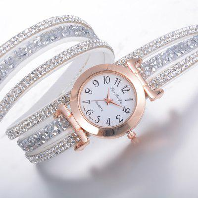 Fanteeda FD093 Women Wrap Round Rhinestones Quartz WatchWomens Watches<br>Fanteeda FD093 Women Wrap Round Rhinestones Quartz Watch<br><br>Band material: PU<br>Band size: 39 x 2 CM<br>Case material: Alloy<br>Clasp type: Double buckle<br>Dial size: 3 x 3 x 0.8 CM<br>Display type: Analog<br>Movement type: Quartz watch<br>Package Contents: 1 x Watch<br>Package size (L x W x H): 26.00 x 5.00 x 1.00 cm / 10.24 x 1.97 x 0.39 inches<br>Package weight: 0.0370 kg<br>Product size (L x W x H): 39.00 x 3.00 x 0.80 cm / 15.35 x 1.18 x 0.31 inches<br>Product weight: 0.0350 kg<br>Shape of the dial: Round<br>Watch mirror: Mineral glass<br>Watch style: Fashion, Business, Retro, Lovely, Wristband Style, Jewellery, Casual<br>Watches categories: Women,Female table<br>Water resistance: No