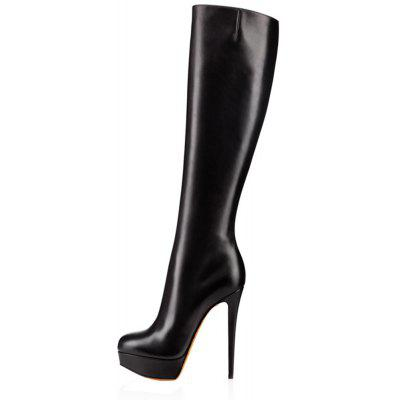2018 New Sexy Thin Black Water BootsWomens Boots<br>2018 New Sexy Thin Black Water Boots<br><br>Boot Height: Knee-High<br>Boot Tube Circumference: 32<br>Boot Tube Height: 40<br>Boot Type: Fashion Boots<br>Closure Type: Zip<br>Gender: For Women<br>Heel Height: 14<br>Heel Height Range: Super High(Above4)<br>Heel Type: Stiletto Heel<br>Lining Material: PU<br>Outsole Material: Rubber<br>Package Contents: 1 x shoes ?pair )<br>Pattern Type: Solid<br>Platform Height: 3.5<br>Season: Winter, Spring/Fall<br>Shoe Width: Medium(B/M)<br>Toe Shape: Round Toe<br>Upper Material: Full Grain Leather<br>Weight: 2.0280kg