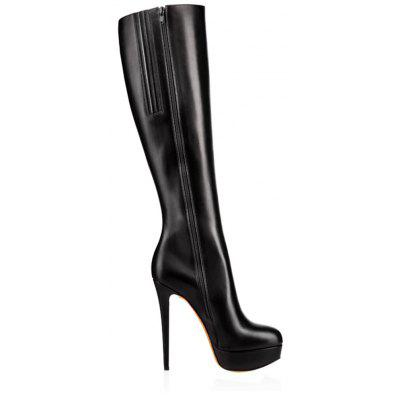 2018 New Sexy Thin Black Water Boots