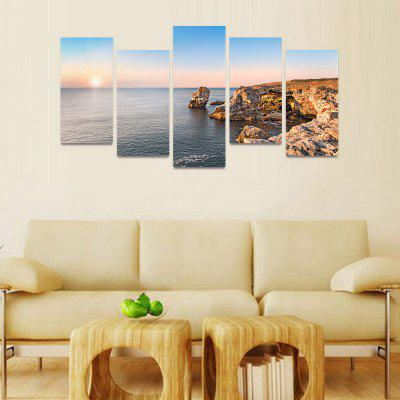 MailingArt FIV42 5 Panels Seascape Wall Art Painting Home Decor Canvas PrintPrints<br>MailingArt FIV42 5 Panels Seascape Wall Art Painting Home Decor Canvas Print<br><br>Craft: Print<br>Form: Five Panels<br>Material: Canvas<br>Package Contents: 5 x Print<br>Package size (L x W x H): 82.00 x 32.00 x 12.00 cm / 32.28 x 12.6 x 4.72 inches<br>Package weight: 1.8000 kg<br>Painting: Include Inner Frame<br>Shape: Horizontal Panoramic<br>Style: Natural<br>Subjects: Seascape<br>Suitable Space: Boys Room,Cafes,Corridor,Dining Room,Girls Room,Hotel,Kids Room,Kitchen,Living Room,Office,Study Room / Office