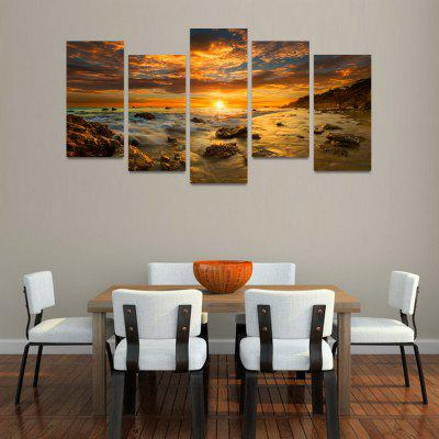 MailingArt FIV45 5 Panels Seascape Wall Art Painting Home Decor Canvas Print