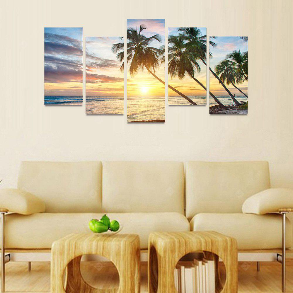 GearBest USA: MailingArt FIV086 5 Panels Seascape Wall Art Painting ...