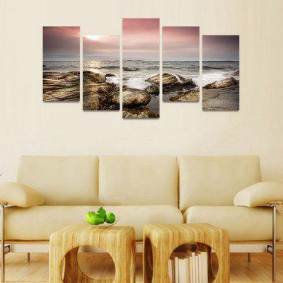 MailingArt FIV47 5 Panels Seascape Wall Art Painting Home Decor Canvas PrintPrints<br>MailingArt FIV47 5 Panels Seascape Wall Art Painting Home Decor Canvas Print<br><br>Craft: Print<br>Form: Five Panels<br>Material: Canvas<br>Package Contents: 5 x Print<br>Package size (L x W x H): 82.00 x 32.00 x 12.00 cm / 32.28 x 12.6 x 4.72 inches<br>Package weight: 1.8000 kg<br>Painting: Include Inner Frame<br>Shape: Horizontal Panoramic<br>Style: Natural<br>Subjects: Seascape<br>Suitable Space: Boys Room,Cafes,Corridor,Dining Room,Girls Room,Hotel,Kids Room,Kitchen,Living Room,Office,Study Room / Office
