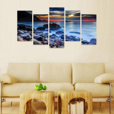 MailingArt FIV0046 5 Panels Seascape Wall Art Painting Home Decor Canvas PrintPrints<br>MailingArt FIV0046 5 Panels Seascape Wall Art Painting Home Decor Canvas Print<br><br>Craft: Print<br>Form: Five Panels<br>Material: Canvas<br>Package Contents: 5 x Print<br>Package size (L x W x H): 82.00 x 32.00 x 12.00 cm / 32.28 x 12.6 x 4.72 inches<br>Package weight: 1.8000 kg<br>Painting: Include Inner Frame<br>Shape: Horizontal Panoramic<br>Style: Natural<br>Subjects: Seascape<br>Suitable Space: Boys Room,Cafes,Corridor,Dining Room,Girls Room,Hotel,Kids Room,Kitchen,Living Room,Office,Study Room / Office