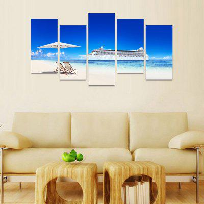 MailingArt FIV088 5 Panels Seascape Wall Art Painting Home Decor Canvas PrintPrints<br>MailingArt FIV088 5 Panels Seascape Wall Art Painting Home Decor Canvas Print<br><br>Craft: Print<br>Form: Five Panels<br>Material: Canvas<br>Package Contents: 5 x Print<br>Package size (L x W x H): 82.00 x 32.00 x 12.00 cm / 32.28 x 12.6 x 4.72 inches<br>Package weight: 1.8000 kg<br>Painting: Include Inner Frame<br>Shape: Horizontal Panoramic<br>Style: Natural<br>Subjects: Seascape<br>Suitable Space: Boys Room,Cafes,Corridor,Dining Room,Girls Room,Hotel,Kids Room,Kitchen,Living Room,Office,Study Room / Office