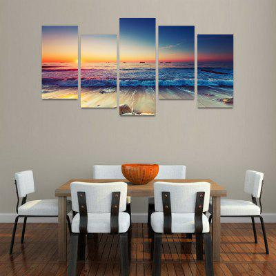 MailingArt FIV089 5 Panels Seascape Wall Art Painting Home Decor Canvas PrintPrints<br>MailingArt FIV089 5 Panels Seascape Wall Art Painting Home Decor Canvas Print<br><br>Craft: Print<br>Form: Five Panels<br>Material: Canvas<br>Package Contents: 5 x Print<br>Package size (L x W x H): 82.00 x 32.00 x 12.00 cm / 32.28 x 12.6 x 4.72 inches<br>Package weight: 1.8000 kg<br>Painting: Include Inner Frame<br>Shape: Horizontal Panoramic<br>Style: Natural<br>Subjects: Seascape<br>Suitable Space: Boys Room,Cafes,Corridor,Dining Room,Girls Room,Hotel,Kids Room,Kitchen,Living Room,Office,Study Room / Office