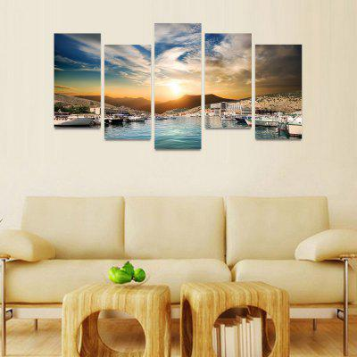 MailingArt FIV090 5 Panels Seascape Wall Art Painting Home Decor Canvas PrintPrints<br>MailingArt FIV090 5 Panels Seascape Wall Art Painting Home Decor Canvas Print<br><br>Craft: Print<br>Form: Five Panels<br>Material: Canvas<br>Package Contents: 5 x Print<br>Package size (L x W x H): 82.00 x 32.00 x 12.00 cm / 32.28 x 12.6 x 4.72 inches<br>Package weight: 1.8000 kg<br>Painting: Include Inner Frame<br>Shape: Horizontal Panoramic<br>Style: Natural<br>Subjects: Seascape<br>Suitable Space: Boys Room,Cafes,Corridor,Dining Room,Girls Room,Hotel,Kids Room,Kitchen,Living Room,Office,Study Room / Office
