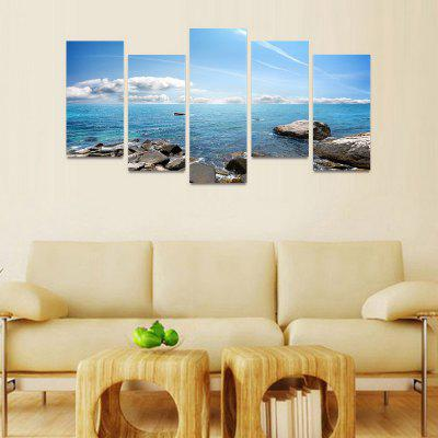 MailingArt FIV50 5 Panels Seascape Wall Art Painting Home Decor Canvas PrintPrints<br>MailingArt FIV50 5 Panels Seascape Wall Art Painting Home Decor Canvas Print<br><br>Craft: Print<br>Form: Five Panels<br>Material: Canvas<br>Package Contents: 5 x Print<br>Package size (L x W x H): 82.00 x 32.00 x 12.00 cm / 32.28 x 12.6 x 4.72 inches<br>Package weight: 1.8000 kg<br>Painting: Include Inner Frame<br>Shape: Horizontal Panoramic<br>Style: Natural<br>Subjects: Seascape<br>Suitable Space: Boys Room,Cafes,Corridor,Dining Room,Girls Room,Hotel,Kids Room,Kitchen,Living Room,Office,Study Room / Office