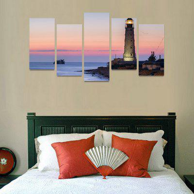 MailingArt FIV58 5 Panels Seascape Wall Art Painting Home Decor Canvas Print