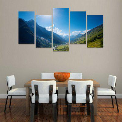 MailingArt FIV103 5 Panels Seascape Wall Art Painting Home Decor Canvas Print