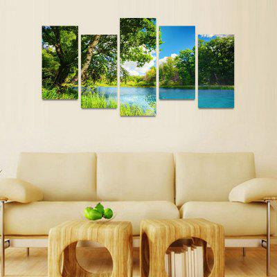MailingArt FIV111  5 Panels Landscape Wall Art Painting Home Decor Canvas PrintPrints<br>MailingArt FIV111  5 Panels Landscape Wall Art Painting Home Decor Canvas Print<br><br>Craft: Print<br>Form: Five Panels<br>Material: Canvas<br>Package Contents: 5 x Print<br>Package size (L x W x H): 82.00 x 32.00 x 12.00 cm / 32.28 x 12.6 x 4.72 inches<br>Package weight: 1.8000 kg<br>Painting: Include Inner Frame<br>Shape: Horizontal Panoramic<br>Style: Natural<br>Subjects: Seascape<br>Suitable Space: Boys Room,Cafes,Corridor,Dining Room,Girls Room,Hotel,Kids Room,Kitchen,Living Room,Office,Study Room / Office