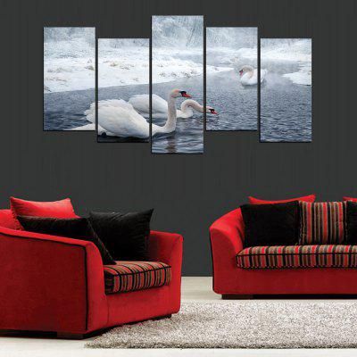 Buy MailingArt FIV112 5 Panels Landscape Wall Art Painting Home Decor Canvas Print, COLORMIX, Home & Garden, Home Decors, Wall Art, Prints for $57.16 in GearBest store