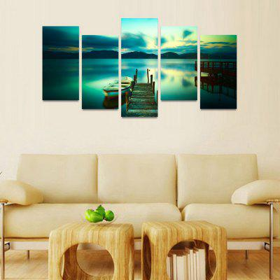 MailingArt FIV114  5 Panels Landscape Wall Art Painting Home Decor Canvas PrintPrints<br>MailingArt FIV114  5 Panels Landscape Wall Art Painting Home Decor Canvas Print<br><br>Craft: Print<br>Form: Five Panels<br>Material: Canvas<br>Package Contents: 5 x Print<br>Package size (L x W x H): 82.00 x 32.00 x 12.00 cm / 32.28 x 12.6 x 4.72 inches<br>Package weight: 1.8000 kg<br>Painting: Include Inner Frame<br>Shape: Horizontal Panoramic<br>Style: Natural<br>Subjects: Seascape<br>Suitable Space: Boys Room,Cafes,Corridor,Dining Room,Hotel,Kids Room,Kitchen,Living Room,Office,Study Room / Office