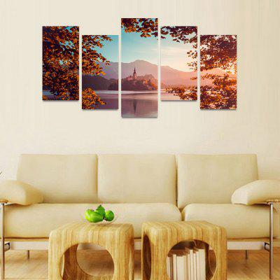 MailingArt FIV117  5 Panels Landscape Wall Art Painting Home Decor Canvas PrintPrints<br>MailingArt FIV117  5 Panels Landscape Wall Art Painting Home Decor Canvas Print<br><br>Craft: Print<br>Form: Five Panels<br>Material: Canvas<br>Package Contents: 5 x Print<br>Package size (L x W x H): 82.00 x 32.00 x 12.00 cm / 32.28 x 12.6 x 4.72 inches<br>Package weight: 1.8000 kg<br>Painting: Include Inner Frame<br>Shape: Horizontal Panoramic<br>Style: Natural<br>Subjects: Seascape<br>Suitable Space: Boys Room,Cafes,Corridor,Dining Room,Girls Room,Hotel,Kids Room,Kitchen,Living Room,Office,Study Room / Office