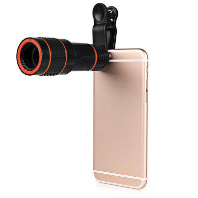 Minismile Multi-coating Glass Universal 12X Zoom Telephoto Camera Lens Shutterbug Necessary with Clip for iPhone X / 8/7