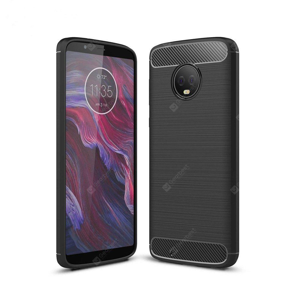 Case for Moto G6 Shockproof Back Cover Solid Color Soft Carbon fiber