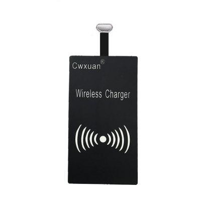 Qi Type-C Wireless Charging Receiver Patch Acceptor
