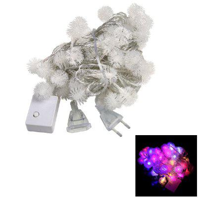 1PC 10M 60LEDS Led String Lights 8MODES Snow Ball Light Natal Ano Novo Festa Casamento 220V