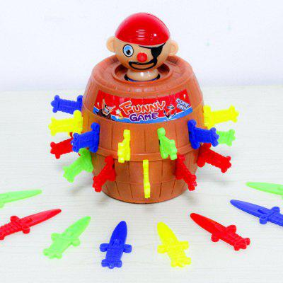 Tricky Pirate Barrel for Kids and Adults Lucky Stab Pop Up Game Novelty Toys IntellectualNovelty Toys<br>Tricky Pirate Barrel for Kids and Adults Lucky Stab Pop Up Game Novelty Toys Intellectual<br><br>Features: Creative Toy<br>Materials: Resin<br>Package Contents: 1 x Pirate Barrel Game Toy<br>Package size: 10.50 x 10.50 x 15.00 cm / 4.13 x 4.13 x 5.91 inches<br>Package weight: 0.2000 kg<br>Product size: 10.00 x 10.00 x 15.00 cm / 3.94 x 3.94 x 5.91 inches<br>Product weight: 0.1500 kg<br>Series: Fashion,Entertainment<br>Theme: Movie and TV,Classic Theme,Trick