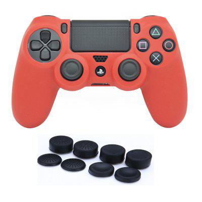 Silicone Case  +8pcs Controller Thumb Stick Grips Cap Cover