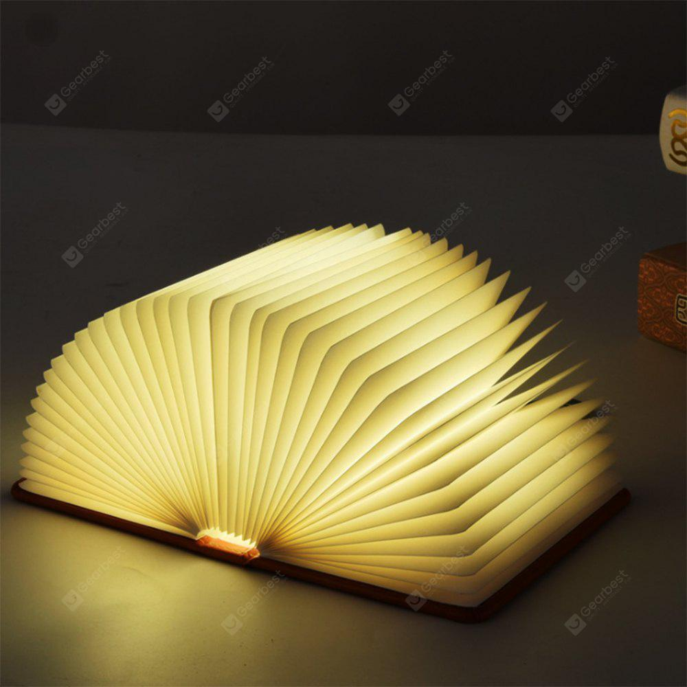 Utorch LED 5 Color Book Night Light USB Charging Folding Decorative Bedside Lamp