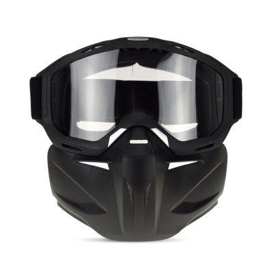 QF009 Motorcycle Bike Windproof Dustproof Helmet Goggles with Removable Mask