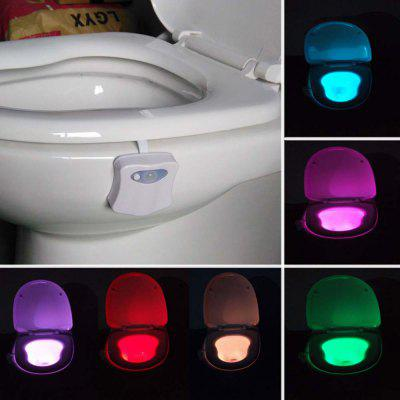 Smart Bathroom Toilet Night Light LED Motion Activated On/Off Seat Sensor Lamp 8 Color LED Toilet Lamp
