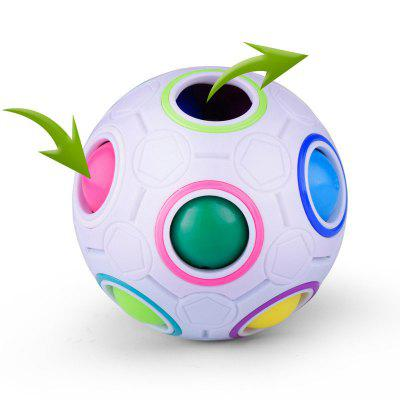 Mini Magic Rainbow Ball Football Fidget Cube Decompression Finger Toys Children GiftsMagic Tricks<br>Mini Magic Rainbow Ball Football Fidget Cube Decompression Finger Toys Children Gifts<br><br>Age: Above 6 year-old<br>Material: Plastic<br>Package Contents: 1 x Toy<br>Package size (L x W x H): 8.00 x 8.00 x 8.00 cm / 3.15 x 3.15 x 3.15 inches<br>Package weight: 0.1300 kg<br>Type: Magic Cubes