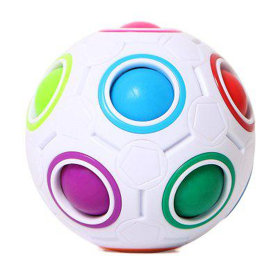 Mini Magic Rainbow Ball Futebol Fidget Cube Decompression Finger Toys Children Gifts