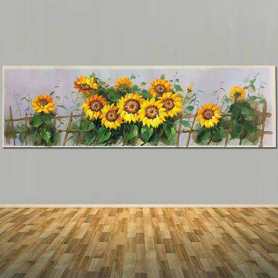 Pure Hand Painted Abstract Sunflower Canvas Oil Painting Sunflower Wall  Picture Living Room Home Wall Decor