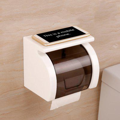 Toilet Transparent Waterproof Seamless Paper Roll Holder