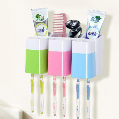 Creative Sucker Toothbrush Holder Mouthwash Set for Three People