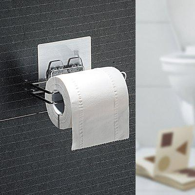 No Trace of Magic Hanging Roll Holder Bathroom Punch-Free