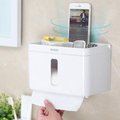 Bathroom Toilet Paper Shelf Free Punch Suction Wall Tissue Box