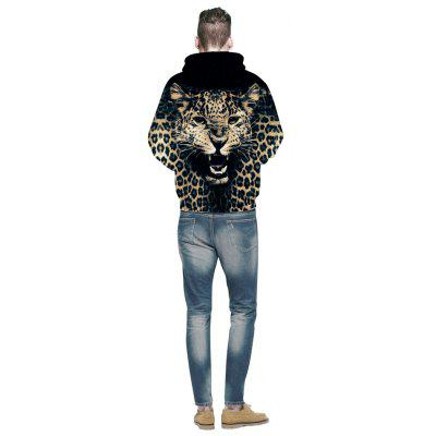 Fashion Leopard Print HoodieMens Hoodies &amp; Sweatshirts<br>Fashion Leopard Print Hoodie<br><br>Fabric Type: Broadcloth<br>Material: Cotton<br>Package Contents: 1 x Hoodie<br>Shirt Length: Regular<br>Sleeve Length: Full<br>Style: Fashion<br>Weight: 0.4800kg
