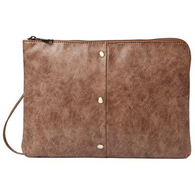 Crazy Horse Leather Business Casual Hand Caught Bag Korean Messenger Bag Clutch for iPad