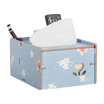 Wooden Multipurpose Storage Box Remote Control Paper Towels Home Living Room Coffee Table Creative Decoration