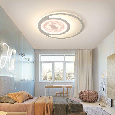 LED Lamps and Lanterns in Living Room of Modern Simple Eye Protection Ceiling Lamp